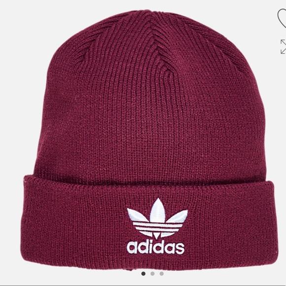 65b30ee511 Adidas originals maroon burgundy beanie hat cap